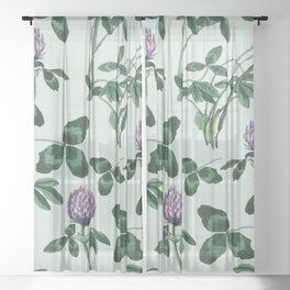 Live in a clover Sheer Curtain