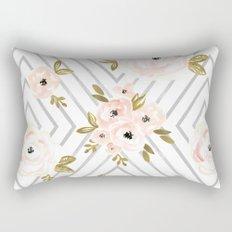 Peach Rose Mod Rectangular Pillow