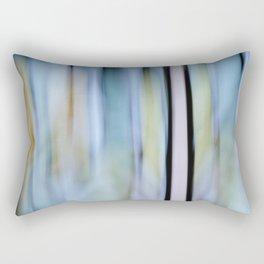 Buttery Lines (Abstract Blue) Rectangular Pillow