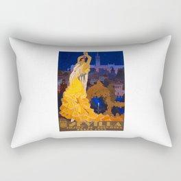 Spain 1933 Seville April Fair Travel Poster Rectangular Pillow