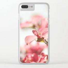 Dogwood Daydreams Clear iPhone Case
