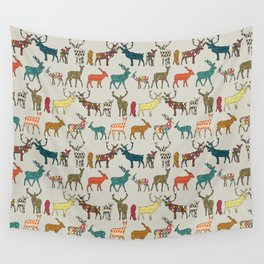 patterned deer stone Wall Tapestry