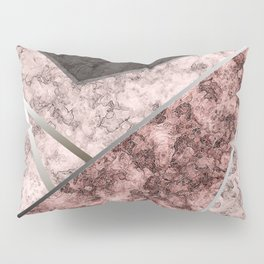 Marble . Combined abstract pattern . Pillow Sham