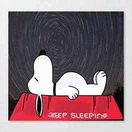 Keep Sleepin' Canvas Print