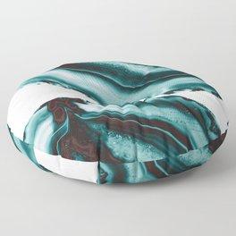 Turquoise Brown Agate #1 #gem #decor #art #society6 Floor Pillow
