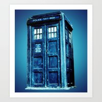 tardis Art Prints featuring TARDIS by Hands in the Sky