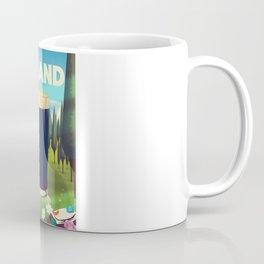 Ireland cartoon travel poster Coffee Mug