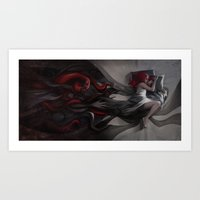 hiphop Art Prints featuring Oneirology by loish