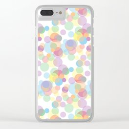 sickly dots Clear iPhone Case