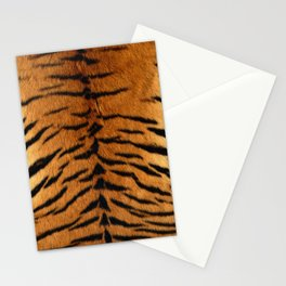 Faux Siberian Tiger Skin Design Stationery Cards