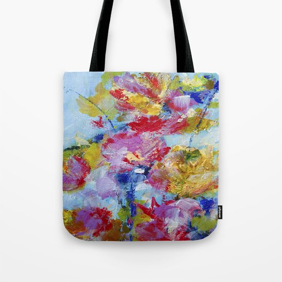 Abstract floral painting 5 Tote Bag