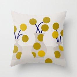 Illustration:cut flowers Throw Pillow