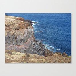 Maui, Hawaii Road to Hana, Cliff to Waters Edge Canvas Print