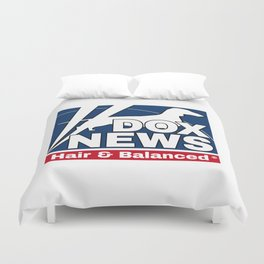 dox news Duvet Cover