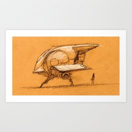 Ship Sketch (2) Art Print