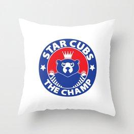 Star Cubs The Champ Throw Pillow