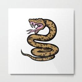 Aggressive Okinawa Habu Snake Mascot Metal Print