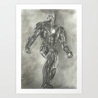 ironman Art Prints featuring Ironman by Meliese Reid