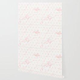 Gold Asanoha / Pink Marble Wallpaper