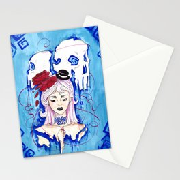 """Red string """"destined"""" Stationery Cards"""
