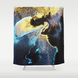Abstract Univers Shower Curtain