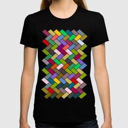 Colourful Tiled Mosaic Pattern T-shirt