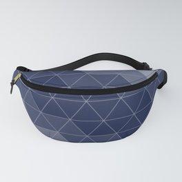 Navy Blue Triangles Minimal Fanny Pack