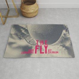 The Fly, horror movie poster, David Cronenberg, Jeff Goldblum, alternative playbill Rug