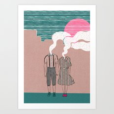 let's vaporize toghether Art Print