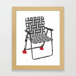rocket launcher (rocket lawnchair). Framed Art Print