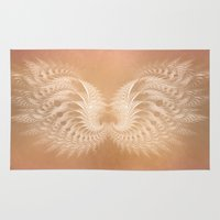 angel wings Area & Throw Rugs featuring Angel Wings by Selina Morgan