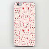 novelty iPhone & iPod Skins featuring Red Cat by leah reena goren