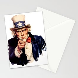 Uncle Sam Pointing Finger Stationery Cards