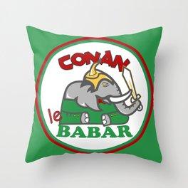 Conan le Babar Throw Pillow