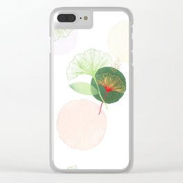 Ginkgo biloba Clear iPhone Case