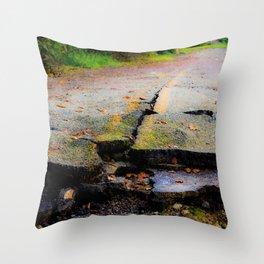 Broken Road Throw Pillow