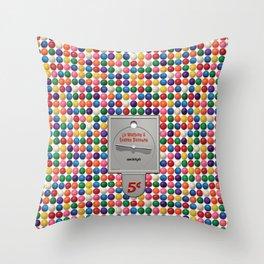 La Machine à Gomme Balloune Throw Pillow