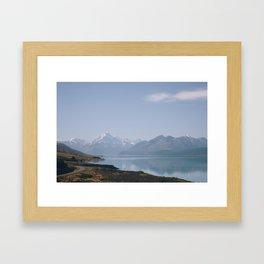 alpine lake Framed Art Print