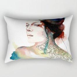blossoming tattoos Rectangular Pillow