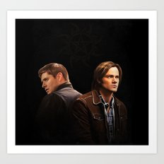 The Brothers Winchester Art Print