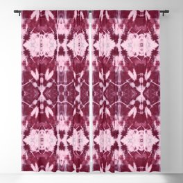 Wine Art Deco Shibori Blackout Curtain