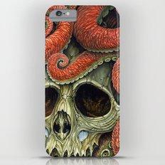 orange tentacles skull iPhone 6 Plus Slim Case