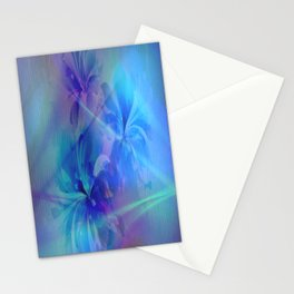 Soft  Colored Floral Lights Beams Abstract Stationery Cards