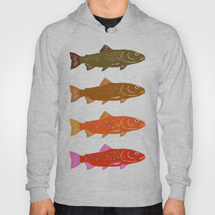 Colorful Trout Hoody