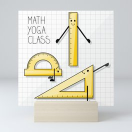 Math yoga class drawing Mini Art Print