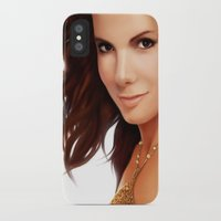 sandra dieckmann iPhone & iPod Cases featuring Sandra Bullock by RoPerez