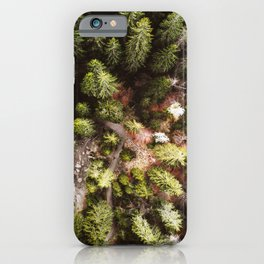 aerial view of the forest iPhone Case
