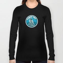 Gold Prospector Miner Panning Circle Retro Long Sleeve T-shirt