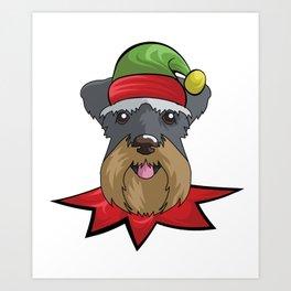 elfdog miniature Art Print