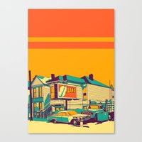 oakland Canvas Prints featuring Oakland by peter O'Toole